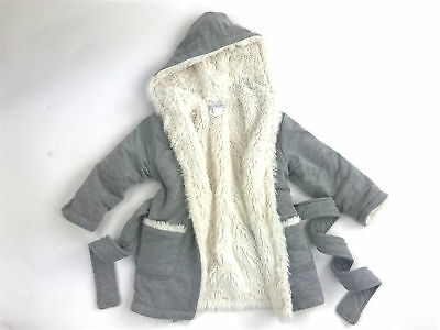 Restoration Hardware Baby & Child Boys Girls Size 18-24 months Robe Fur lined