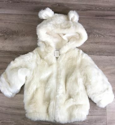 Baby & Child restoration hardware white Fur Jacket Size 12 Months unsex boy girl