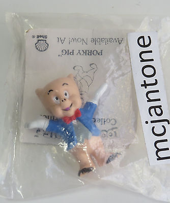 MIP Shell Gas Station 1990 Looney Tunes Characters PORKY PIG Warner Bros PVC