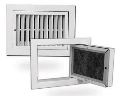 Hinged Half Chevron Grille With Filter  FACE:750 x 600mm, Neck 700 x  550mm