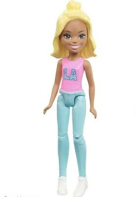 Mattel BARBIE On The GO Green BLONDE Fashion Doll MINI DELUXE age 4+ SEALED New