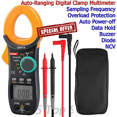 Digital Clamp Meter Tester AC/DC Volt Amp Multimeter Auto Ranging Current 6000