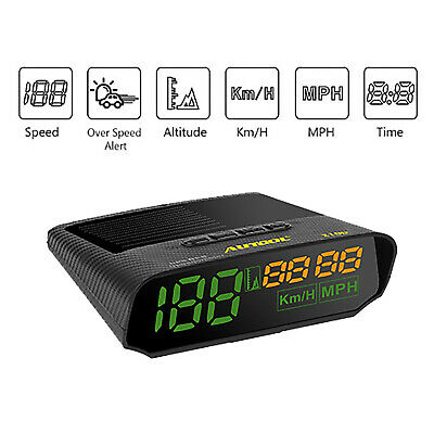 Autool X100 GPS Digital Head-Up Display KMH/MPH Alarm Speedometer For Car Motor