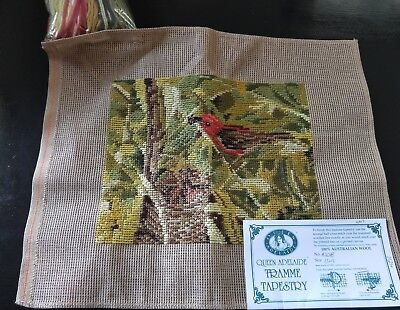 BRAND NEW QUEEN ADELAIDE Trammed TAPESTRY CANVAS & WOOL No. A2018