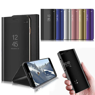 HUAWEI Y5 2018 --- Luxury Smart Mirror View Stand Flip Phone Case Cover