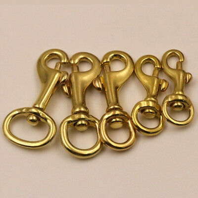 Popular Brass Swivel Round Eye Bolt Snap Hook Pet Leash Dog Chain Clips