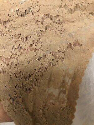 Vtg Maidenform Beige Lace Thong Panties Size 7 G
