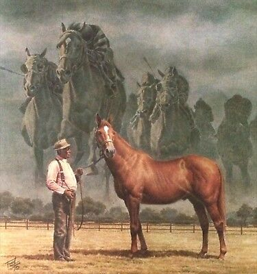 FRED STONE's ~ MAN O WAR ~RARE ARTIST PROOF LITHOGRAPH ~ SIGNED  by ARTIST