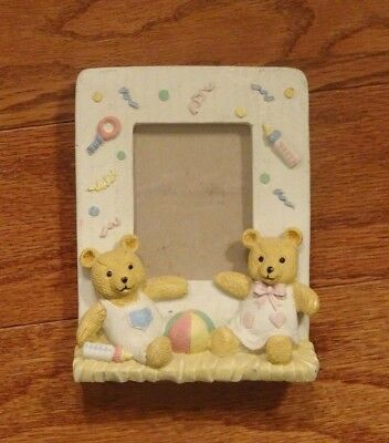 "3D Resin Baby Frame with Teddy Bears for 2"" x 3"" Photo with Stand"