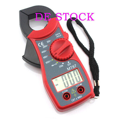 MT87 Digital Multimeter Amper Clamp Meter Stromzange Pinzette AC / DC