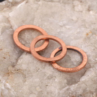 20PCS/Pack Assorted Copper Washer Gasket Sealing Ring Sump Plug Kit 10X14X1