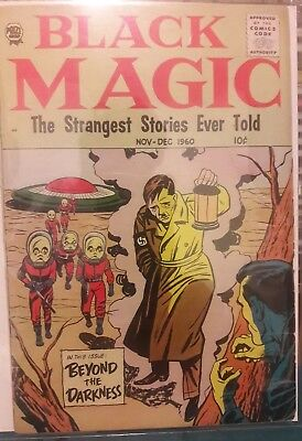 BLACK MAGIC vol. 7 #5 (44) PRIZE 1960 SCARCE Sci-Fi HITLER cover JOE SIMON Nice!