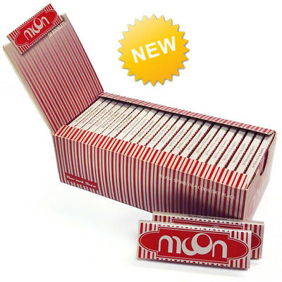EXPORT PACK 1 Box 50 Booklets Moon Red Cigarette Tobacco Rolling Papers 70*36mm