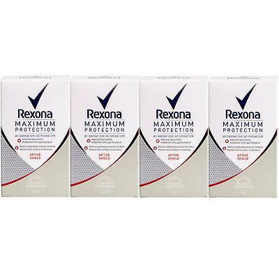 Rexona MAXIMUM Protection -ACTIVE SHIELD- 4 x 45 ml Anitbakterieller Schutz