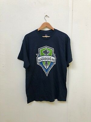 Seattle Sounders Majestic Men's MLS Club Logo T-Shirt - Large - Navy - New