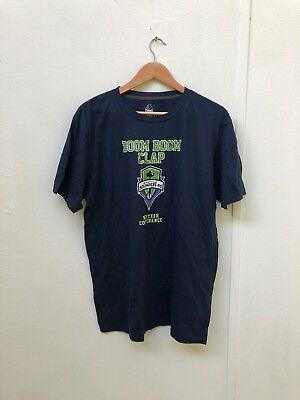Seattle Sounders Majestic Men's MLS Club Graphic T-Shirt - Large - Navy - New