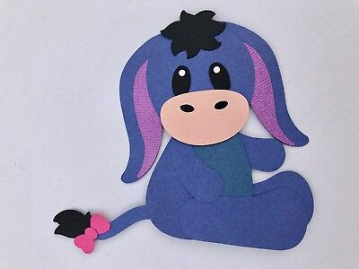 Eeyore - fully assembled die cut / paper piecing