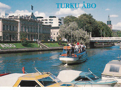 Turku Finland Postcard Unused VGC