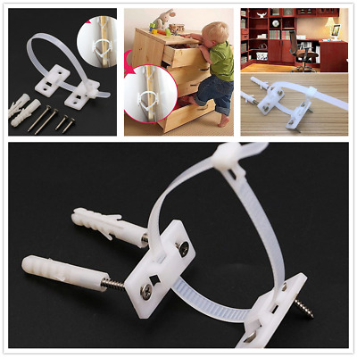 AU Furniture Practical Strap Anti-Tip Buckle Plastic Falling Durable For Home