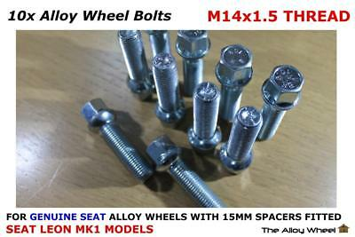 Wheel Spacers 20mm 06-11 2 Mk2 5x112 57.1 +OE Bolts For Seat Leon Cupra