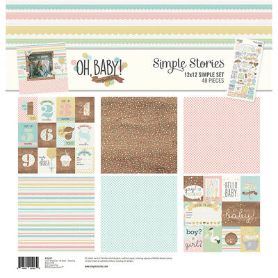 Simple Stories Simple Set Collection Kit - OH, BABY! EXPECTING - papers stickers