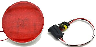 """LED round 4"""" smart dynamic red lens 26 red LED's sequence turn signal stop tail"""