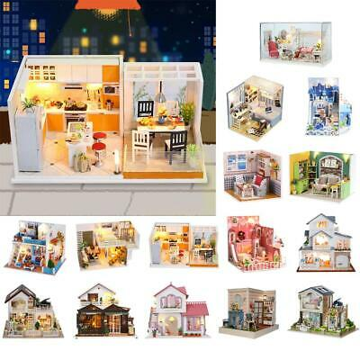 Baoblaze 1:24 DIY Handcraft Miniature Project Kit Wooden Dolls House Model Gift
