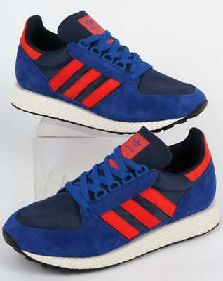 adidas Forest Grove Trainers in Blue, Red & Navy - Oregon, SALE UK 8 9 10