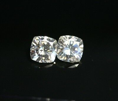 2.9ct White Moissanite Pair - Beautiful Precision Cut Gems - True Colourless
