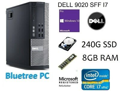 Dell OptiPlex 9020 SFF Core i7-4770 8GB Ram 240GB SSD Win10 Pro Desktop Computer
