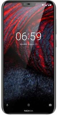 "New Nokia 6.1 Plus (Black, 64GB) 4GB RAM (4G) 5.8"" 16MP+5MP Camera SHIP DHL"