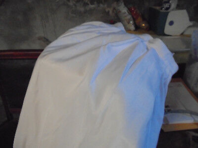 """Table Skirts 29"""" long by 21 Feet Around  White Polyester"""