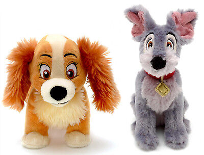 Official Disney Store Lady & The Tramp Plush Soft Toy Beanies Teddy Baby Gift