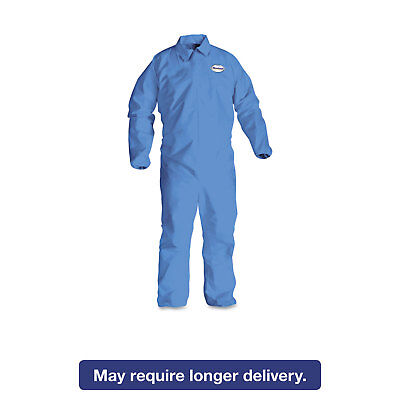 KleenGuard* A60 Elastic-Cuff & Back Coveralls Blue X-Large 24/Case 45004