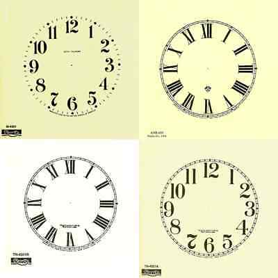New Replacement Clock Dials / Faces - Ivory & White - Clock Making Craft Design