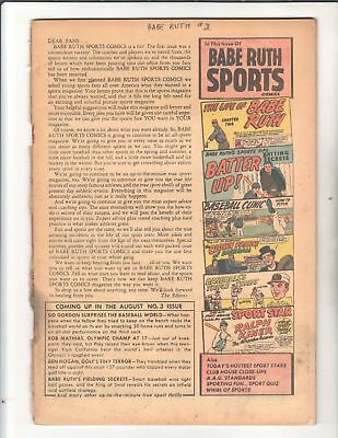 Babe Ruth Sports #3 & 4 1949 HtF Golden Age Title Solid Readers