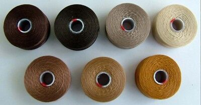 Thread Bead C-Lon S-Lon Size D Or AA  7 Shades Brown Gold