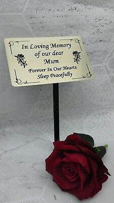 Personalised Memorial Stake Grave/Tree Marker Cremation with Personalised Plaque