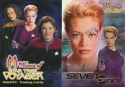 Star Trek Women of Voyager 2 CARD PROMO SET Seven of Nine