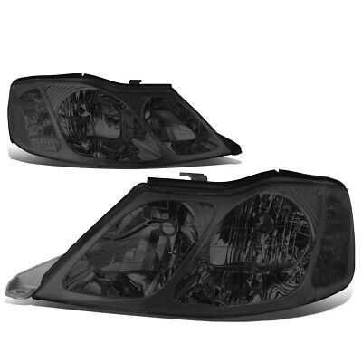 Fit 2000-2004 Toyota Avalon Pair Smoked Housing Clear Corner Headlight/Lamp Set