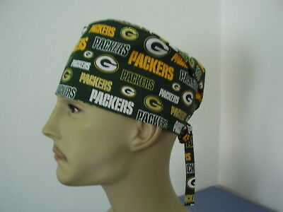 Surgical Scrub Hat Tieback Cap - NFL- GREEN BAY PACKERS GOLD - One size