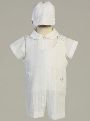 ARCHIE White Cotton Outfit Christening Outfit 0-3m 3-6m 6-12m 12-18m