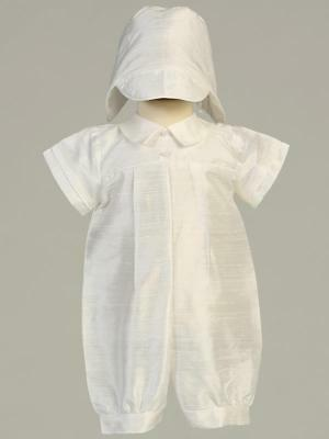 CONNER Baby Boys Short 100% Silk Christening Outfit 0-3m 3-6m 6-12m 12-18m