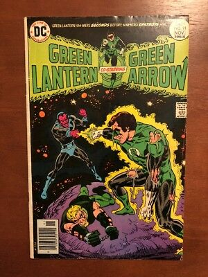 Green Lantern #91 (1976) 7.0 FN DC Key Issue Comic Book Bronze Age Green Arrow