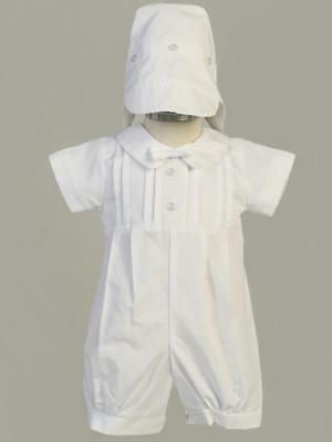 LIAM Baby Boys White Short Cotton Christening Outfit 0-3m 3-6m 6-12m 12-18m