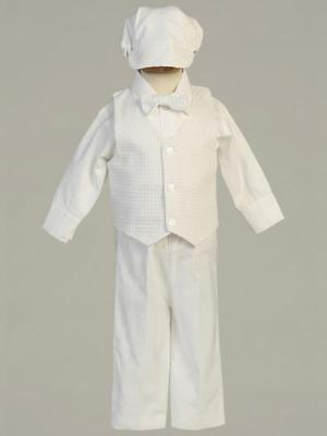NATHAN Baby Boys White Cotton Christening Outfit 0-3m 3-6m 6-12m 12-18m 18-24m