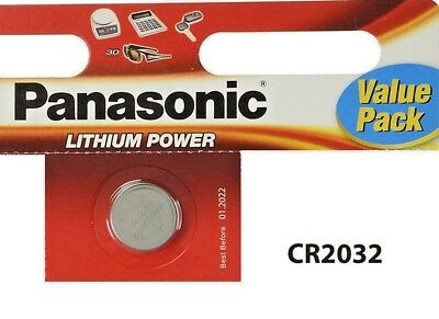 2 x Panasonic CR2032 3V Lithium Coin Cell Battery 2032 Batteries Brand new stock