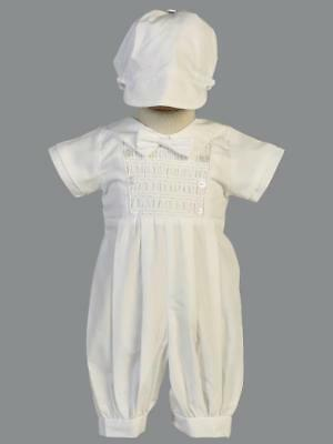ISAAC Baby Boys White Cotton Christening Outfit 0-3m 3-6m 6-12m 12-18m