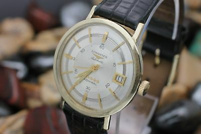 Vintage LONGINES Admiral 5 Star Automatic Date 10K Gold Filled Men's Dress Watch