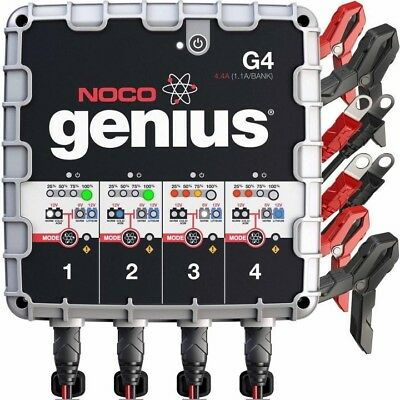 NOCO G4 4.4A 4 Bank Smart Ultrasafe Battery Charger